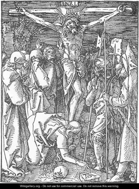 Small Passion, 24. Christ on the Cross - Albrecht Durer