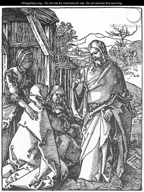 Small Passion, 05. Christ Taking Leave of His Mother - Albrecht Durer