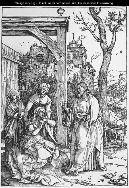 Life of the Virgin, 16. Christ Taking Leave of his Mother - Albrecht Durer