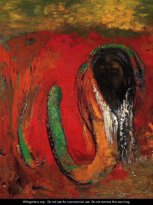 Oannès (Christ et Serpent) - Odilon Redon