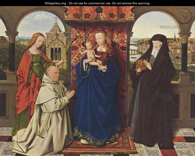 The Madonna with the Carthusians - Jan Van Eyck