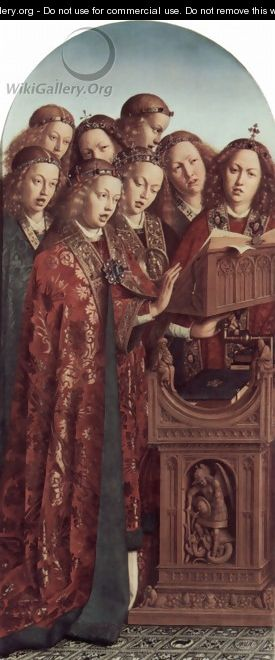 The Ghent Altarpiece, Singing Angels - Jan Van Eyck