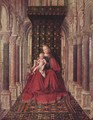 Marienplatz altar, Dresdner triptych, middle panel, Mary with child - Jan Van Eyck