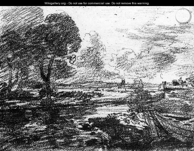 View of a Winding River - John Constable
