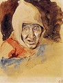Head of an elderly woman - Eugene Delacroix