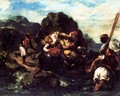 African Pirates Abducting a Young Woman - Eugene Delacroix