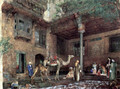 Yard at the home of the painter in Cairo - John Frederick Lewis