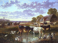 The Watering Hole - John Frederick Herring, Jnr.