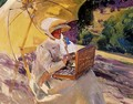 Mary painting at the Pardo - Joaquin Sorolla y Bastida