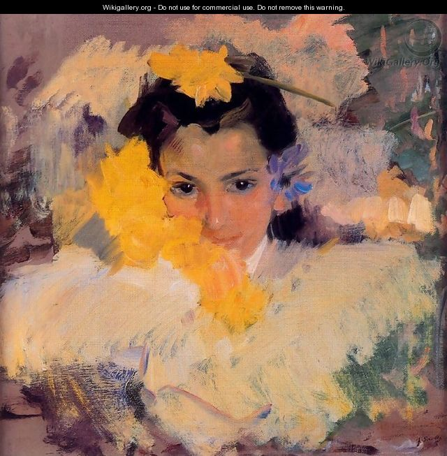 Girls with flowers - Joaquin Sorolla y Bastida