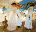 Under the awning. Zarauz - Joaquin Sorolla y Bastida