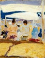 Under the awning (San Sebastian) - Joaquin Sorolla y Bastida