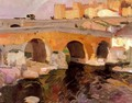 The Old Bridge in Avila - Joaquin Sorolla y Bastida