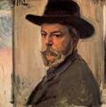 Self-portrait with a hat - Joaquin Sorolla y Bastida