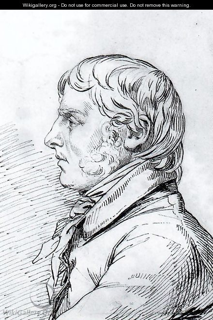 Self-portrait in profile - Caspar David Friedrich
