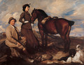Miss Alison Preston and John Proctor on Mearbeck Moor - George Lambert