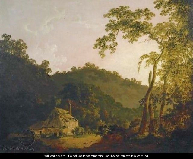 A Cottage in Needwood Forest - Joseph Wright