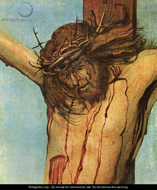 Christ on the Cross between Mary and St John (detail 1) - Albrecht Altdorfer