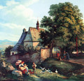 St. Annen church to barley groats in Bohemia - Adrian Ludwig Richter