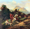 Italian landscape with resting wanderers - Adrian Ludwig Richter