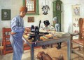 Where I Do My Etching - Carl Larsson