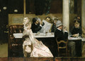 Cafe Scene in Paris 1877 - Henri Gervex