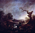 Sunset, Carthorses Drinking at a Stream - Thomas Gainsborough