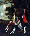 Peter Darnell Muilman. Charles Crokatt and William Keable in a Landscape - Thomas Gainsborough