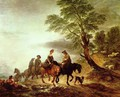 Open Landscape with Mounted Peasants - Thomas Gainsborough