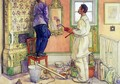 My friends, the Carpenter and the Painter - Carl Larsson