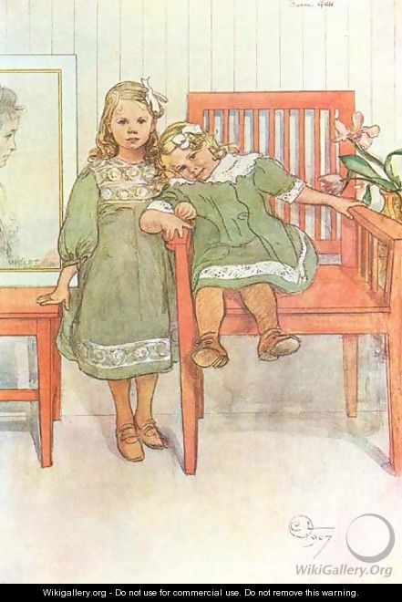 Minni And Essi - Carl Larsson