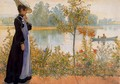 Late Summer, Karin By The Shore - Carl Larsson