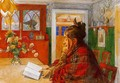 Karin reading - Carl Larsson