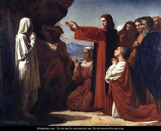 The resurrection of Lazarus - Léon Bonnat