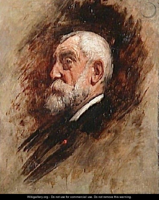 Portrait of Henri Harpignies - Léon Bonnat