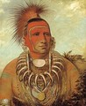 Shon-ta-yi-ga, Little Wolf, a Famous Warrior - George Catlin