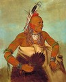 Osage warrior of the Wha-sha-she band (a subdivision of Hunkah) - George Catlin