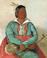 Mó-sho-la-túb-bee, He Who Puts Out and Kills, Chief of the Tribe - George Catlin