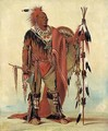 Kee-o-kúk, The Watchful Fox, Chief of the Tribe - George Catlin