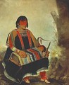Jú-ah-kís-gaw, Woman with Her Child in a Cradle - George Catlin
