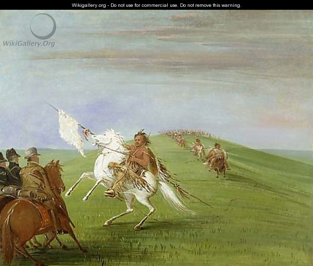 Comanche Meeting the Dragoons - George Catlin