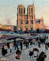 The Quai Saint-Michel and Notre-Dame - Maximilien Luce