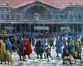 The Gare de l'Est in Snow - Maximilien Luce