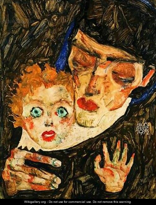 Mother and son - Egon Schiele