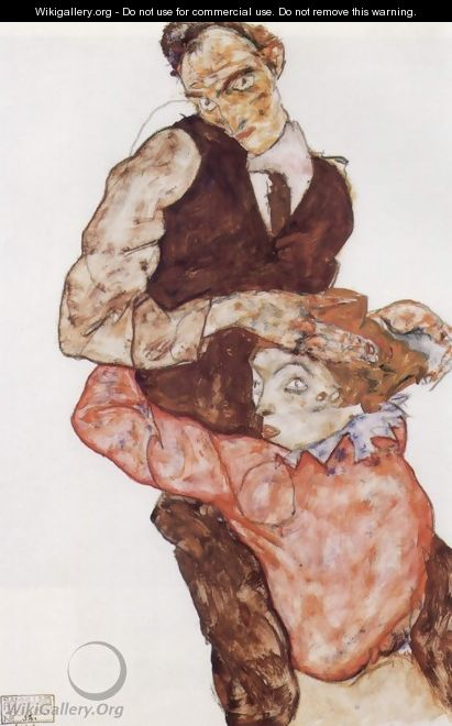 Courting couple 2 - Egon Schiele