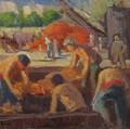 Workers Loading a barge - Maximilien Luce