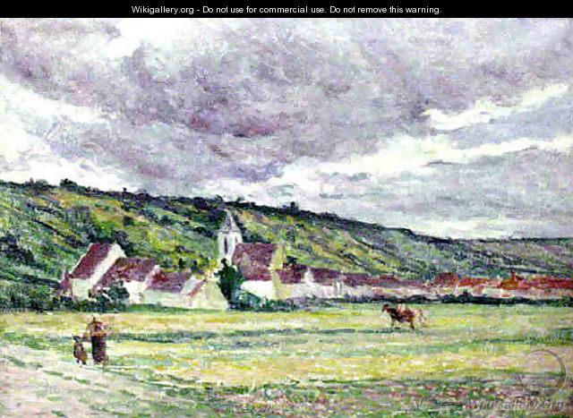 The Village of Bessy on Cure - Maximilien Luce