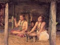 Siva with Siakumu Making Kava in Tofae's House - John La Farge