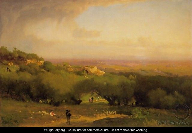 The Alban Hills - George Inness