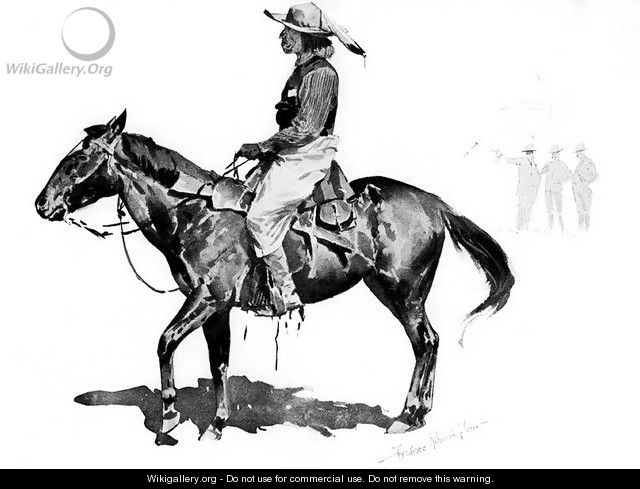 A Reservation Indian - Frederic Remington